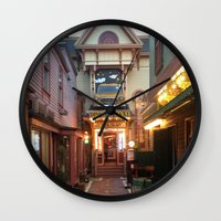 maine Wall Clocks featuring Maine by Christina Hand