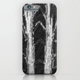 Winter Tree Trunks  iPhone Case