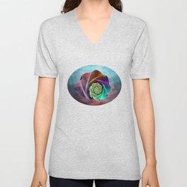 Abstract Rose Unisex V-Neck