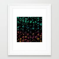 gravity Framed Art Prints featuring Gravity  by SensualPatterns