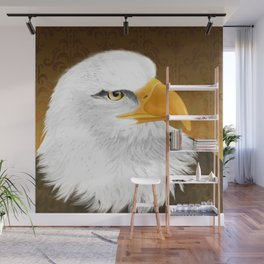Eagle Face Wall Mural
