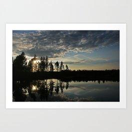 Symmetrical Pine Valley  Art Print