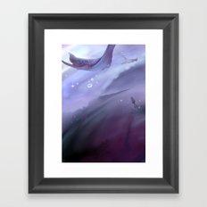 Drop in a purple ocean Framed Art Print