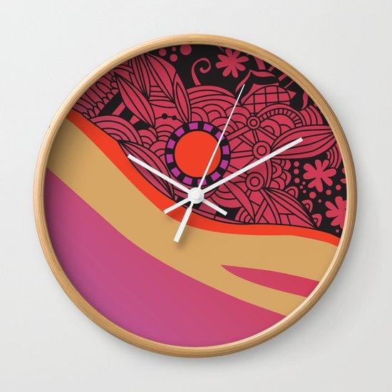 Rose gold square ornament Wall Clock