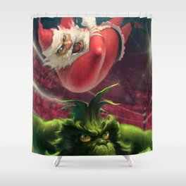 Santa Win Shower Curtain