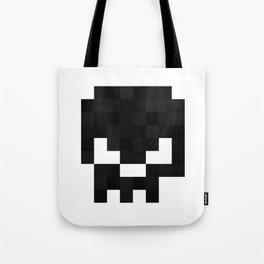 8bit pixelated skull. Tote Bag
