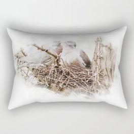Pigeons cuddling Rectangular Pillow