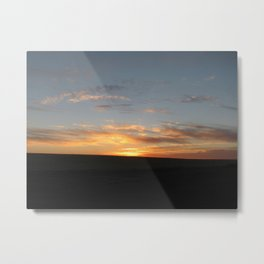 Blue and Gold Agri Metal Print