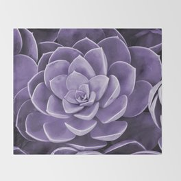 succulent Blossom violet color Throw Blanket