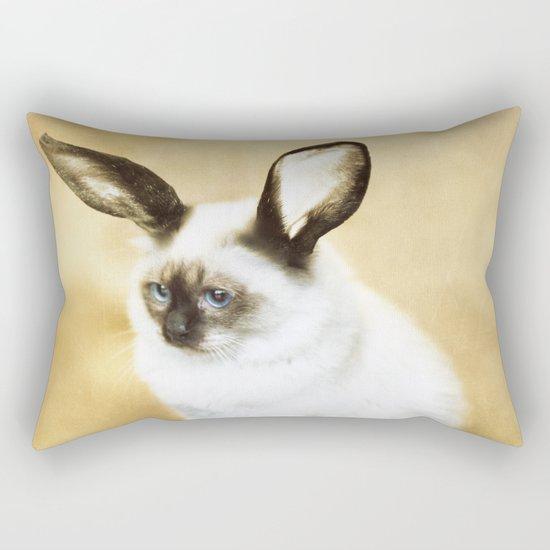 Cat Rabbit Rectangular Pillow