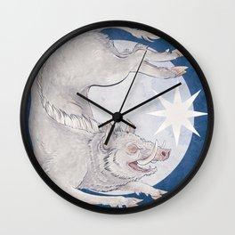 White boar Wall Clock