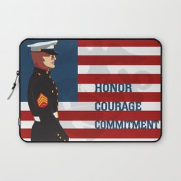 Honor, Courage & Commitment Laptop Sleeve