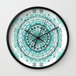 Supernova-In Teal, Aqua, & Mint Wall Clock