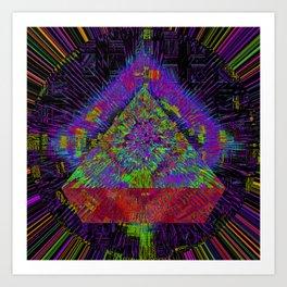 Orange Pyramid Landing Art Print
