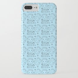 Hand Painted Ink Adorable Hedgehogs iPhone Case