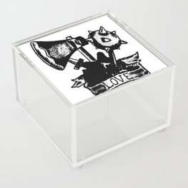 Love and weapons, Custom gift design Acrylic Box