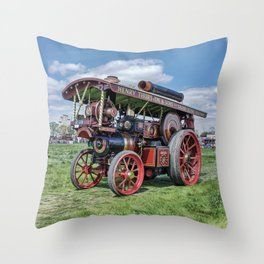 """Showmans Engine """"Lord Nelson"""" Desatuated Throw Pillow"""
