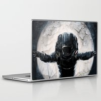 lunar Laptop & iPad Skins featuring Lunar Figure  by Steve Panton