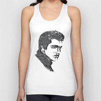 elvis Tank Tops featuring Elvis by Alessia Bogdanich