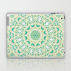 Floral Pattern Gold and Emerald Green Laptop & iPad Skin