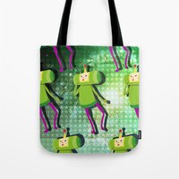 katamari Tote Bags featuring Katamari Cousins - Prince by cakeisforrobots