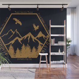 Two ravens flew Wall Mural