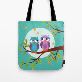 Sleepy owls in love Tote Bag