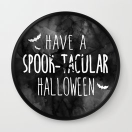 Have A Spook-Tacular Halloween Wall Clock