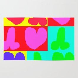 corazones,colores y penes Rug