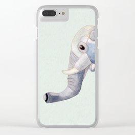 Cuddly Elephant II Clear iPhone Case