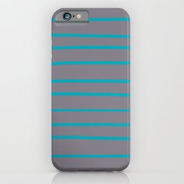 Aqua Blue and Gray Stripe Pattern 2021 Color 2021 Color of the Year AI Aqua and Good Gray iPhone Case