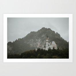 Castle on the hill; Schloss Neuschwanstein | Colourful Travel Photography | Schwangau, Germany (Europe) Art Print Art Print