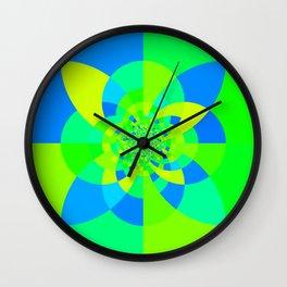 Green & Turquoise Kaleidoscope Design Wall Clock