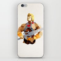 he man iPhone & iPod Skins featuring Polygon Heroes - He-Man by PolygonHeroes