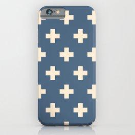 Swiss Cross Blue iPhone Case