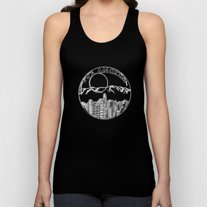 Los Angeles city in a glass ball 2  Home Decor Graphicdesign Unisex Tank Top