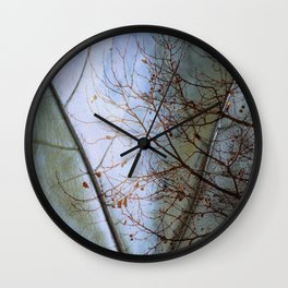 Tree reflection on its leaf Wall Clock