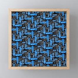 Gamer Lingo-Black and Blue Framed Mini Art Print
