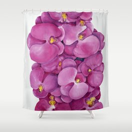 Watercolour Orchid Bloom Shower Curtain