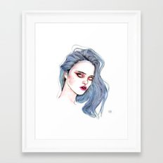 Sky Ferreira /  Blue  Framed Art Print