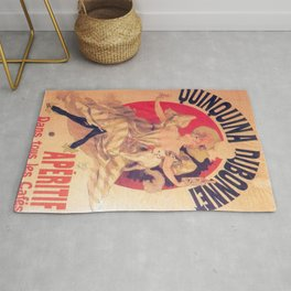 Quinquina Dubonnet 1895 By Jules Cheret | Reproduction Art Nouveau Rug