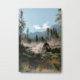 Morning forest haze - Bolzano Italy - Travel Photography Art Print Metal Print