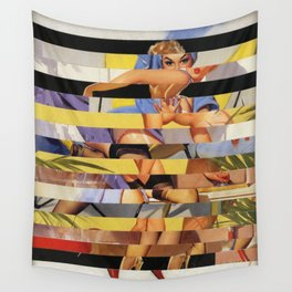 Glitch Pin-Up Redux: Courtney Wall Tapestry