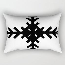 Black and White Arrow Cross Rectangular Pillow