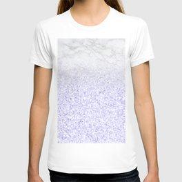 She Sparkles - Pastel Purple Glitter Marble T-shirt
