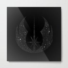 Jedi Order in Stars on Black Metal Print