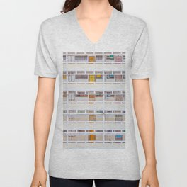 Hong Kong apartment in old district Unisex V-Neck