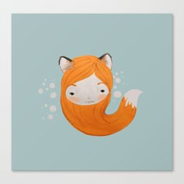 Fox Girl Canvas Print