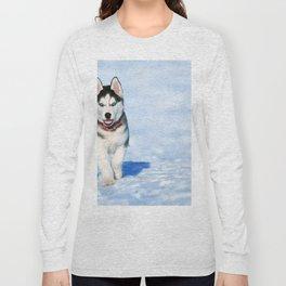 Siberian Husky pup Long Sleeve T-shirt