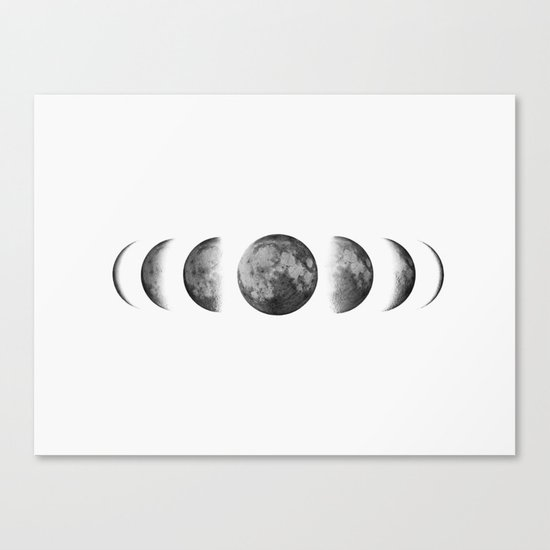 Phases of the moon - Scandinavian art Canvas Print